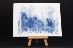 Echse – Cyanotypie – Postkarte I