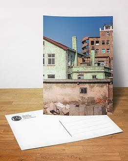 Postkarte - Treppe|Haus