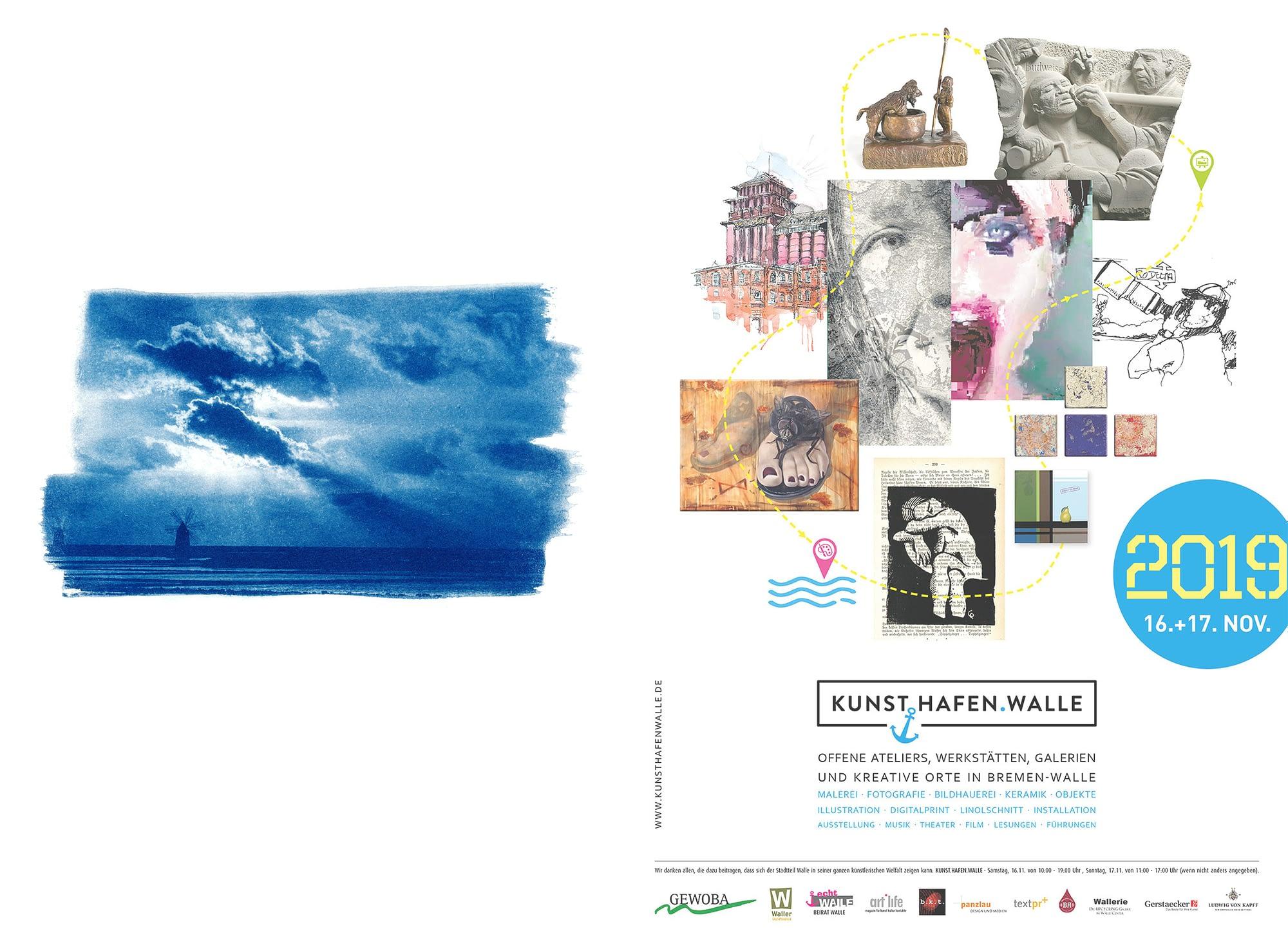 Fotografie, Olmo Fotografik, Kunsthafen Walle, Kunst.Hafen.Walle, Cyanotype, Cyanotypie