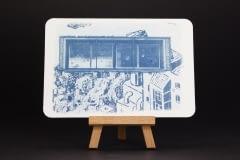 Fenster mit Aussicht – Cyanotypie – Postkarte I