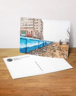 Postkarte - Unter dem Pflaster liegt der Strand?